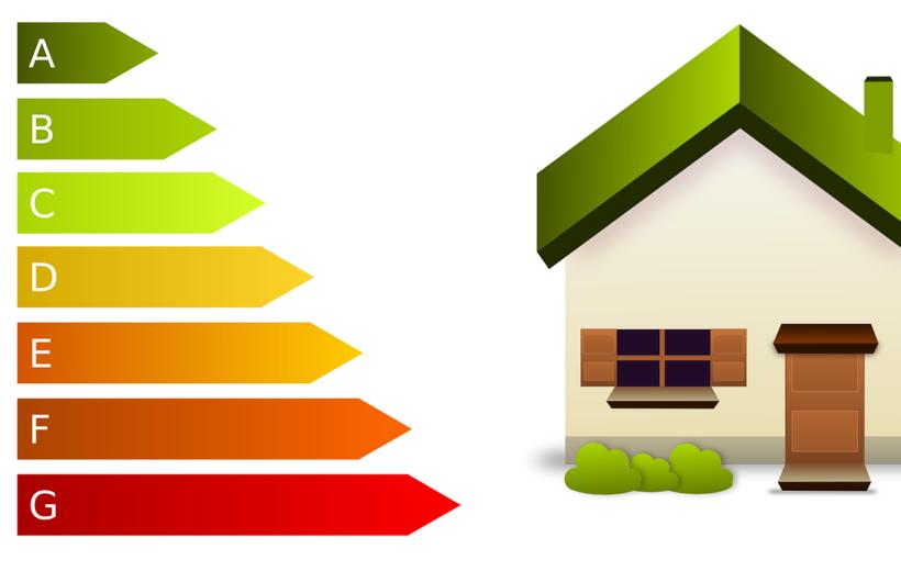 Energie Effizienz Abbildung mit einem Haus